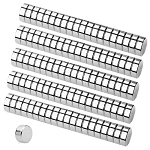 Refrigerator Magnets, 100PCS 6×3MM Small Round Cylinder Fridge Magnets, Office Magnets, Whiteboard Magnets