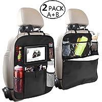 $22 » OYRGCIK Backseat Organizer for Kids 2 Type (A+B) Kick Mats Back Seat Car Protector with Multi…