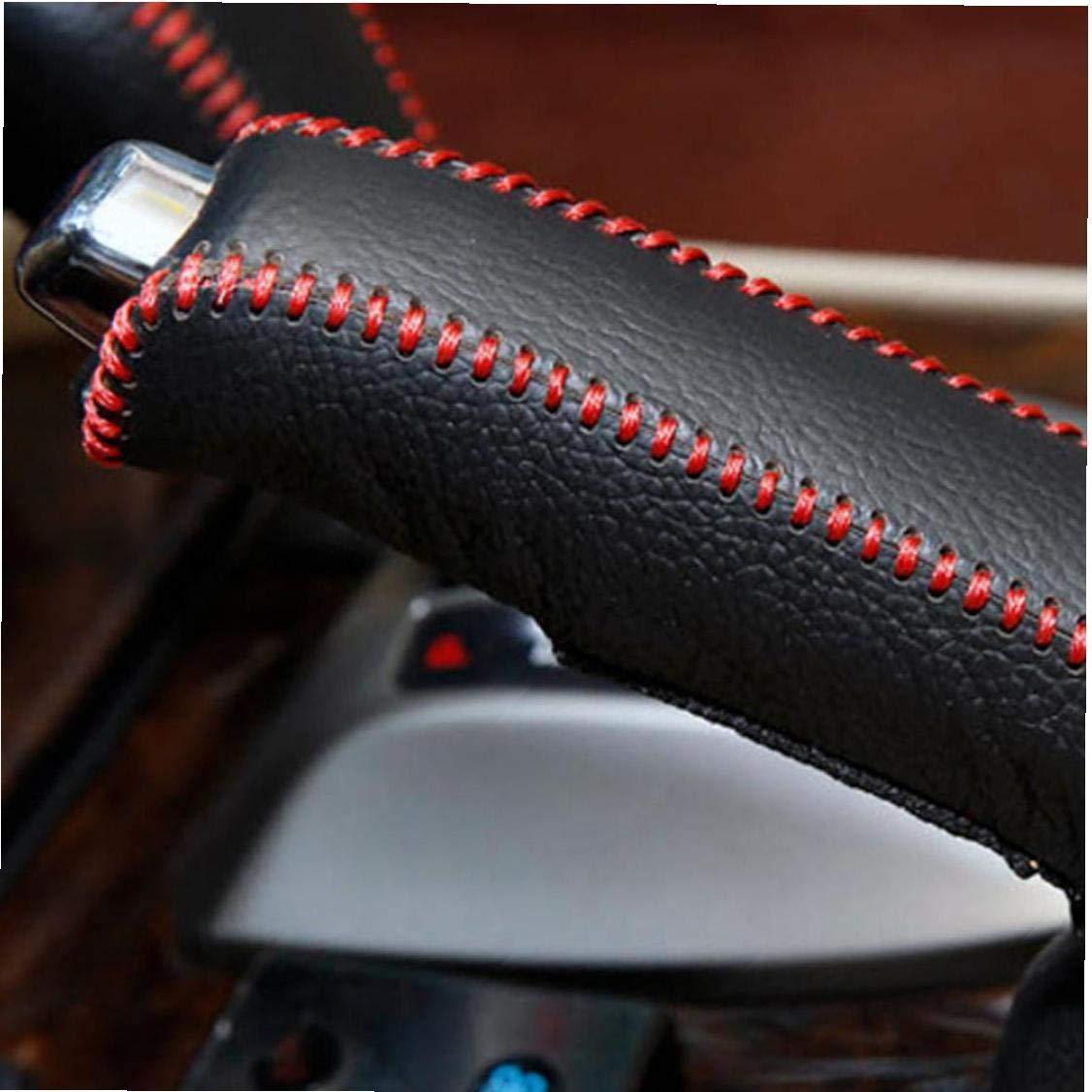 1set Vitesse En Cuir Pommeau De Levier Couverture Anti Slip Couvre Frein /à Main Pour Universal Auto
