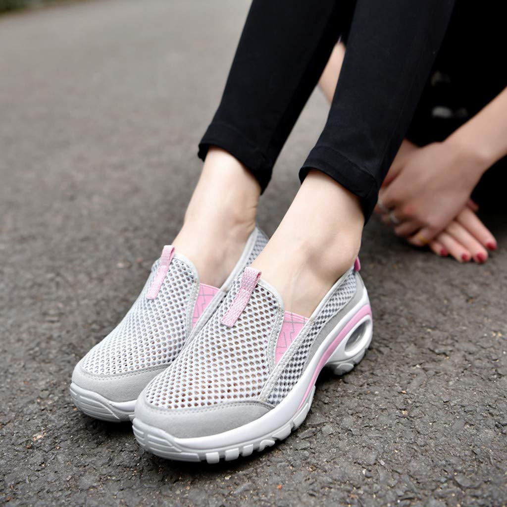Moonker Womens Running Shoes Arch Support Wide Width Sneaker Ladies Girls Mesh Lightweight Breathable Casual Shoes