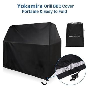 yokamira Funda para Barbacoa, 145 * 61 * 117 cm de barbacoa cubierta impermeable a prueba de polvo protector solar Gas parrilla de la barbacoa del ...