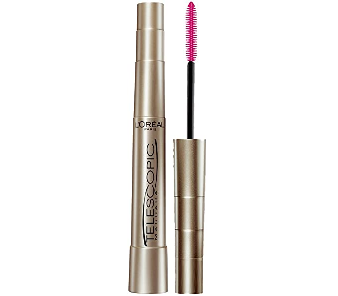 LOreal Paris Telescopic Mascara, Blackest Black, 0.27 Ounces: Amazon.es: Salud y cuidado personal