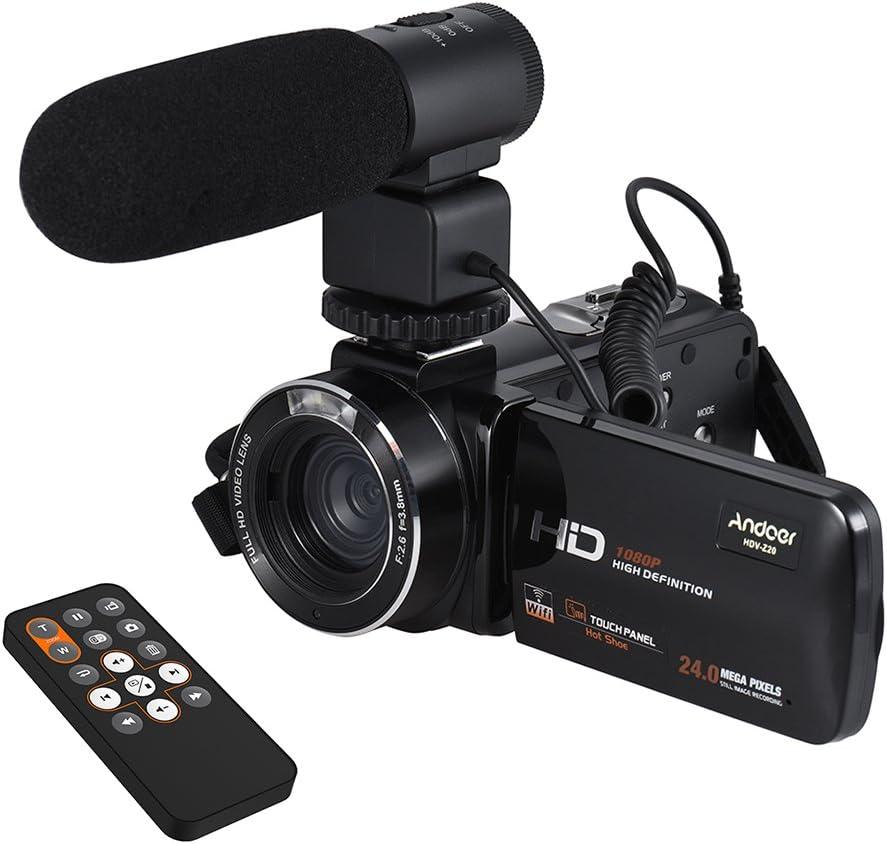 Digital Video Kamera Camcorder Professioneller Stereo-Mikrofon f/ür Nikon V1/D600/D610/D7000/D7100/D7200/D750/D800/D810/d810/a D800s D800e D3100/D3200/D3300/D5100/D5200/D5300/&nb