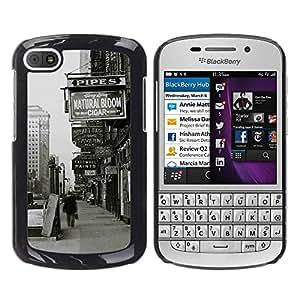 EJOY---Cubierta de la caja de protección la piel dura para el / BlackBerry Q10 / --Oldschool Nueva York Street Signs