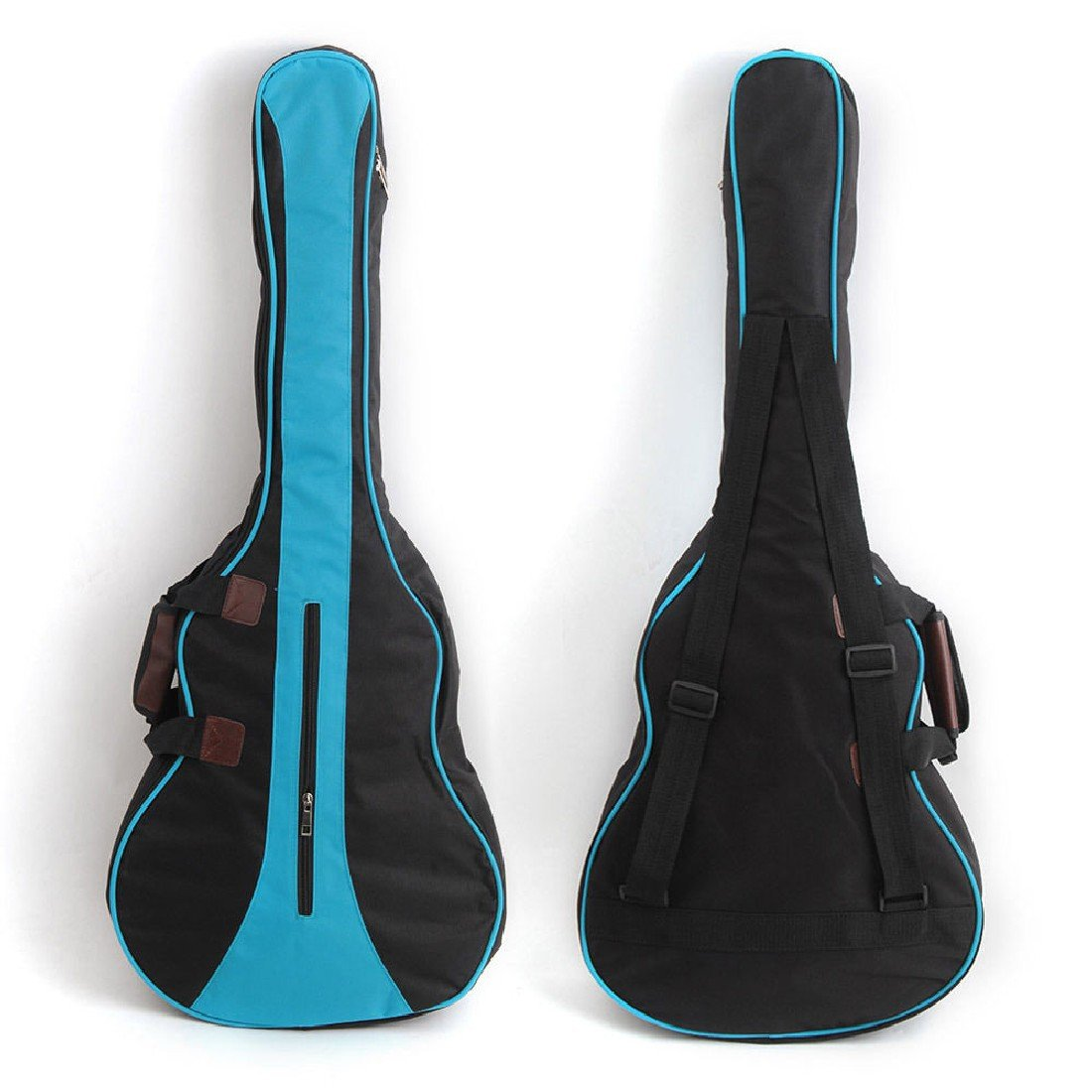 Funda protectora para guitarra 600D Oxford Cloth Backpack Big Bag For Ukulele Guitarra acústica Durable Black + Blue 36 ChenYao-Swansea