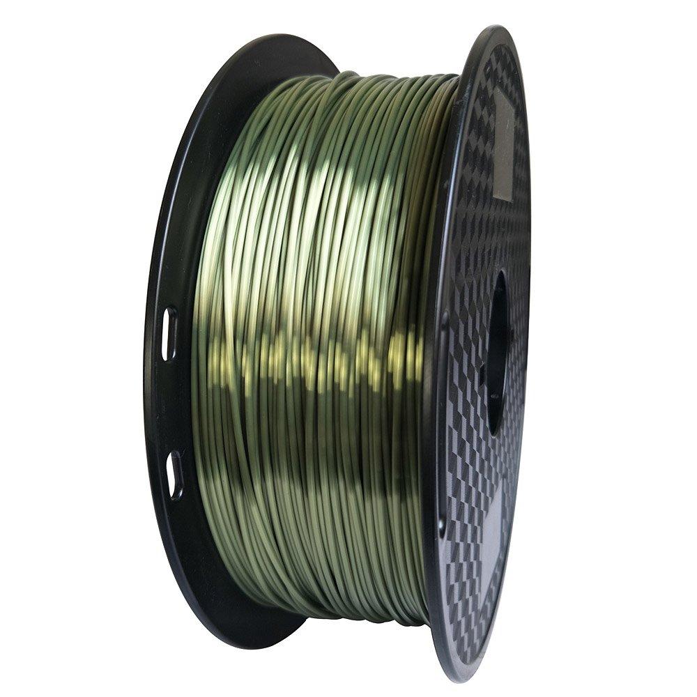 Printing Material Bronze Shine Filament Silky Shiny Bronze Like Silk Green Bronze PLA Filament 1.75mm 3D Printer Filament 1KG 2.2LBS