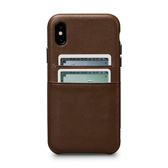 super popular 6ae0c 2d927 Sena Cases, Deen Leather Snap On Wallet Case iPhone Xs Max (Saddle)