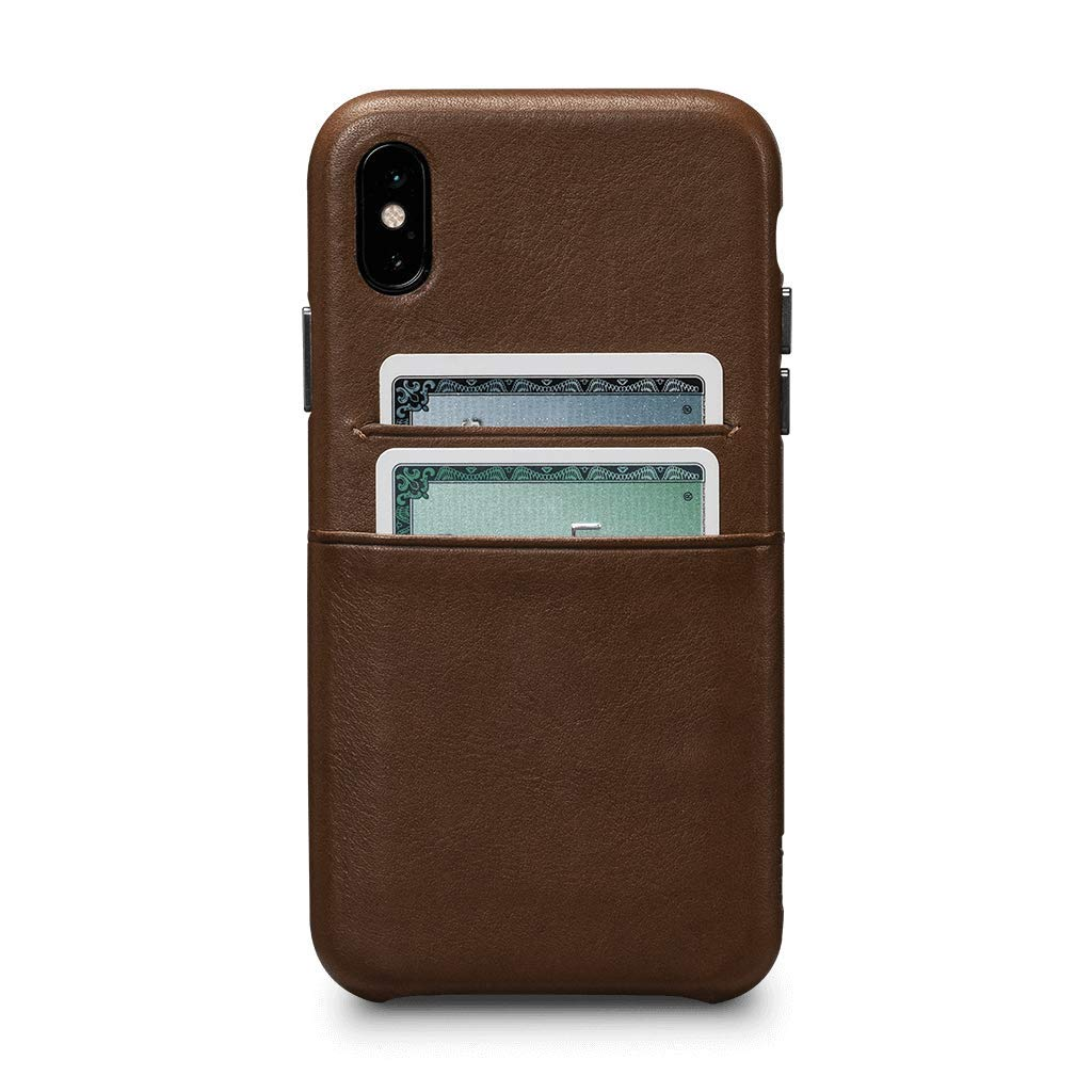 Sena Cases, Deen Leather Snap On Wallet Case iPhone Xs Max (Saddle)