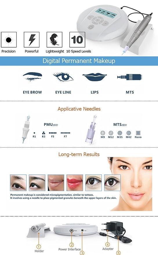 Artmex - Rotatorio permanente de maquillaje para máquina de ...