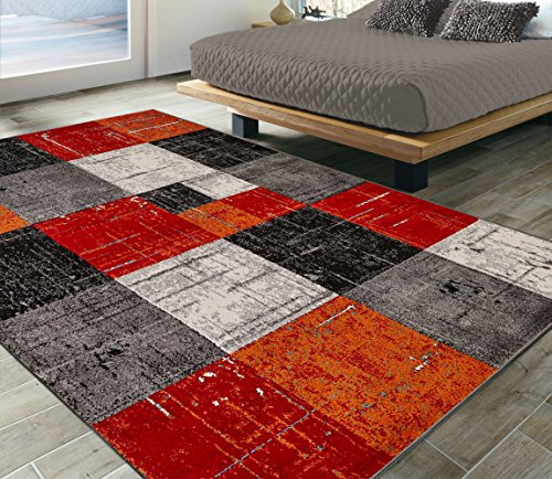 Ottomanson CIT3121-5X7 City Collection Modern Area Rug, 5'3