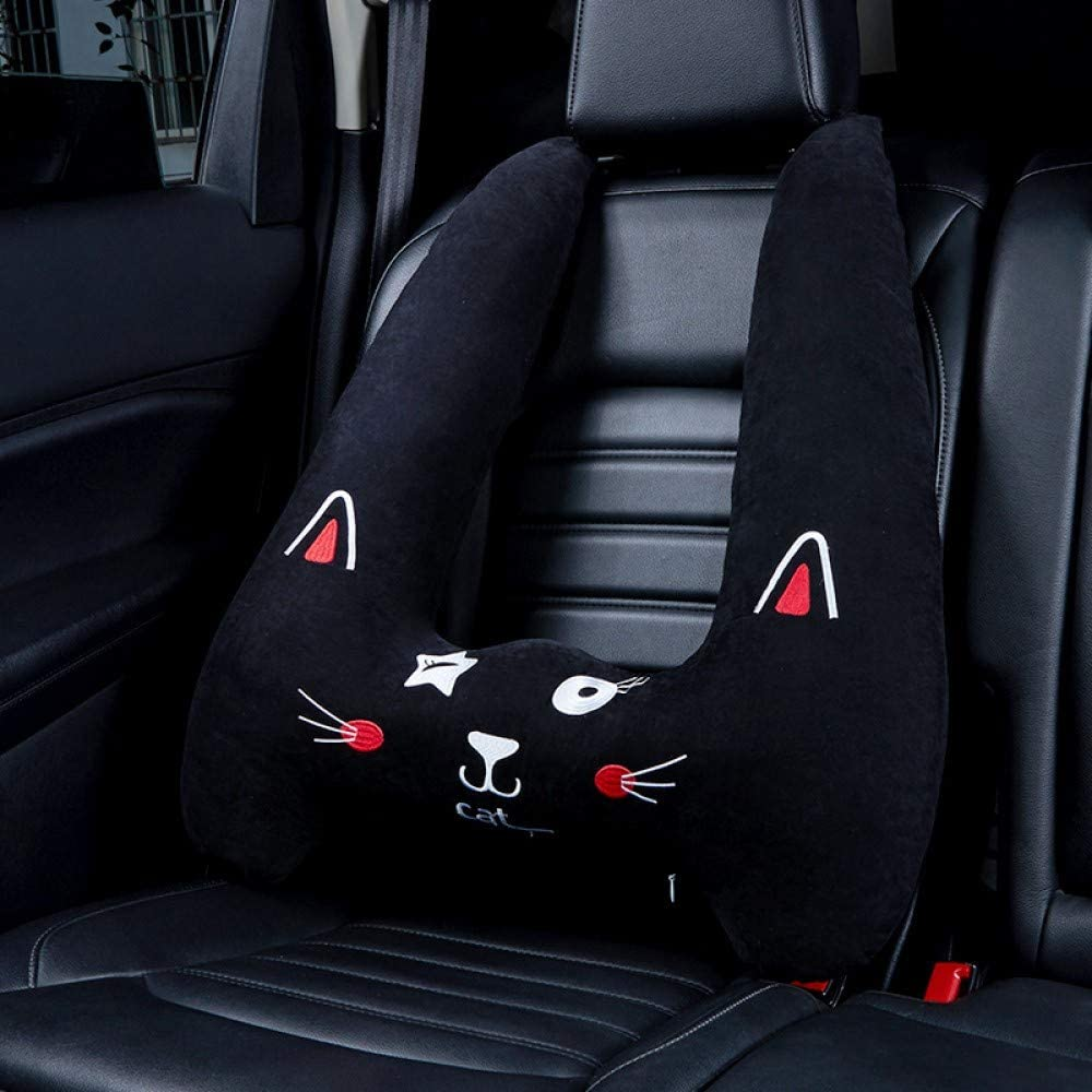 Car Suede Headrest Cushion Support Pillow Car Seat Pillow Color : B tianlong for Audi Car Neck Pillow with Logo