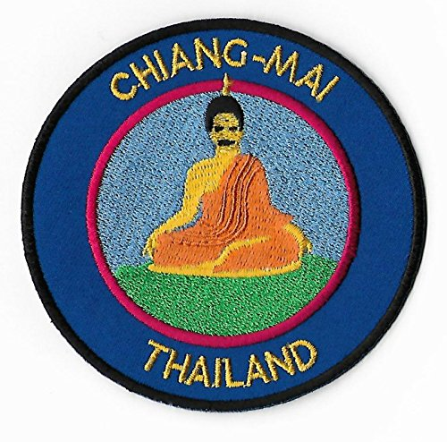 Chiang Mai Thailand Patch Buddha Embroidered Iron/Sew on Badge (3.5 Inch) Trek Asia Applique Emblem by Karma (Chiang Mai Zoo)