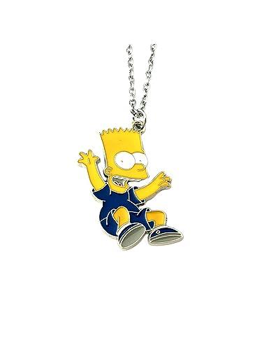 amazon com bart simpson pendant necklace tv comics movies cartoons