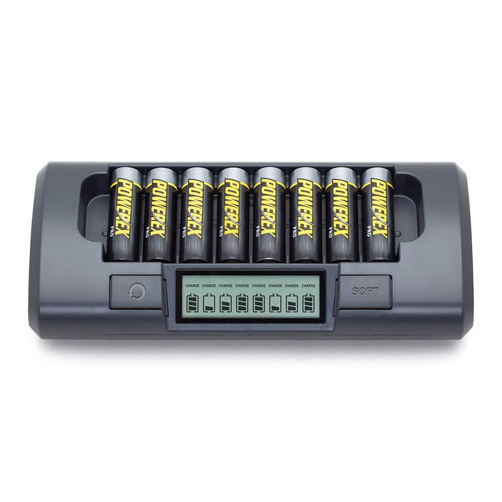Amazon.com: Powerex MH-C800S 8-Cell Smart Charger for AA ...