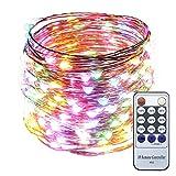 ER CHEN(TM) 66ft Led String Lights,200 Led Starry Lights on 20M Copper Wire ...