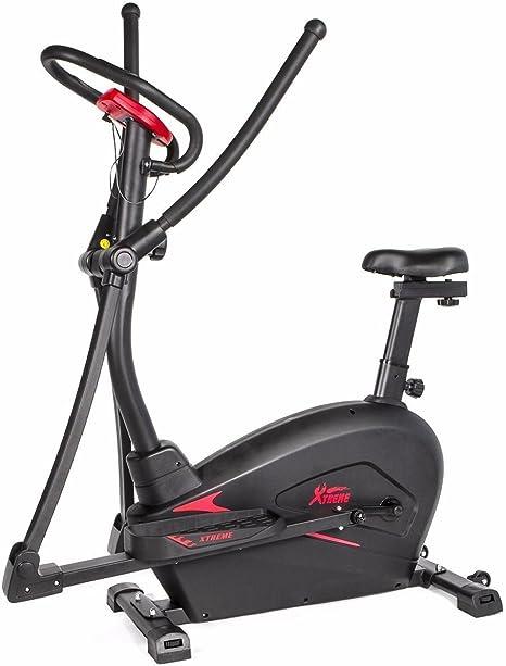 Nueva 2 en 1 Dual de cardio trainer bicicleta estática elíptica ...