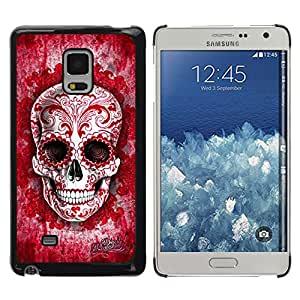 Shell-Star Arte & diseño plástico duro Fundas Cover Cubre Hard Case Cover para Samsung Galaxy Mega 5.8 / i9150 / i9152 ( Red Blood Love Floral Ink Skull Tattoo )
