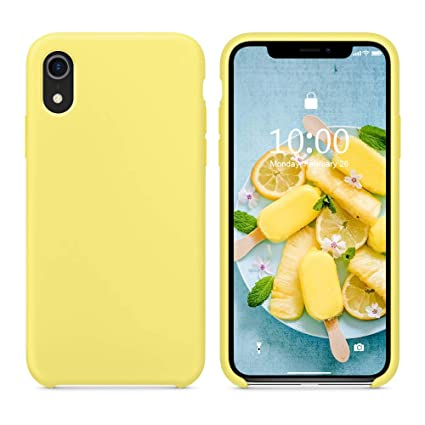 SURPHY Silicone Case for iPhone XR, Slim Liquid Silicone Soft Rubber  Protective Phone Case Cover (with Soft Microfiber Lining) Compatible with  iPhone