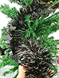 4 Pieces Tinse Garland For Halloween Tree or Door Windows Decoration, Shinny Party Accessory TG005