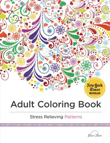 adult coloring book stress relieving patterns blue star coloring 9781941325124 amazoncom books - Coloring Books