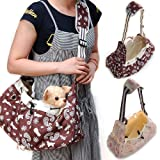 Foldable Canvas Shoulder Bag Sling Pet Carrier (Brown), My Pet Supplies