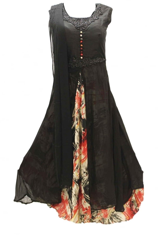 CSM3798 Black and Red Churidar Suit Designer Indian Bollywood Chudidar
