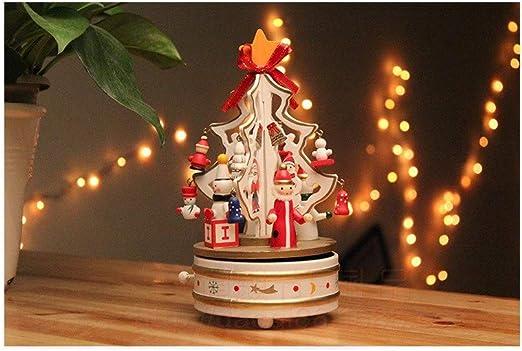 TKHCOLDM Árbol de Navidad de Madera Caja de música Caja de música ...