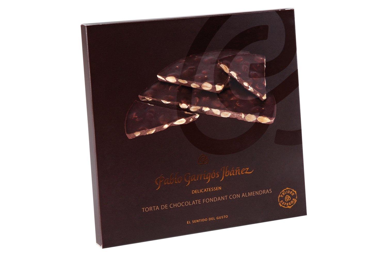 Amazon.com : Pablo Garrigós Ibáñez Delicatessen Torta Dark Chocolate with Marcona Almonds (Torta Chocolate Fondant con Almendras) 7 oz (200 grams) (Pack of ...