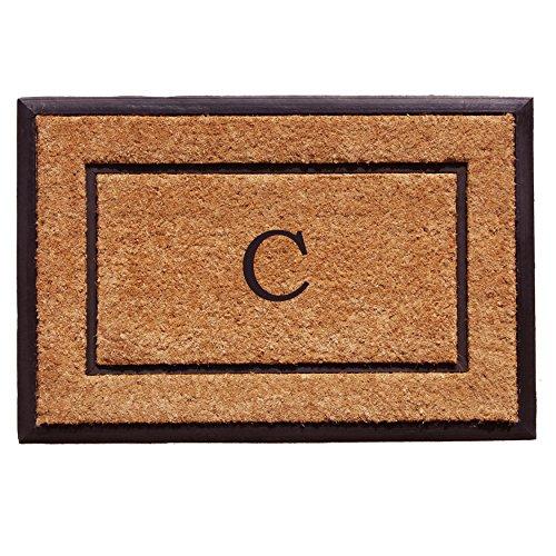 Home & More 101632436C The General Monogram Doormat, Letter C