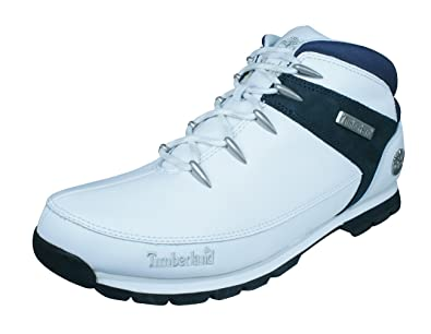 df06b37f4c Timberland Euro Sprint Mens Leather Boots-White-13