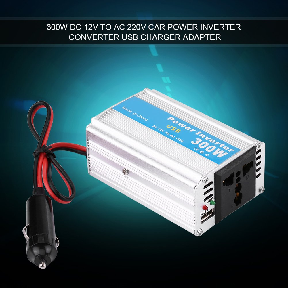 Car Power Inverter,500W DC 12V to AC 220V-240V Peak 600W Car Power Inverter Converter Dual USB Charger Adapter