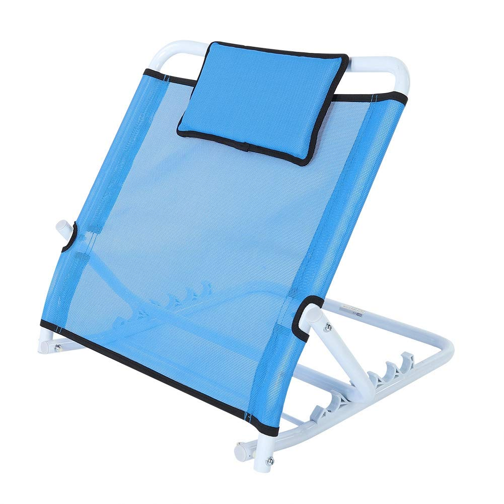 Asixx Adjustable Back Rest, Folding Adjustable Thicken Steel Backrest Home Bed Support Back Rest Can Be Placed at Bed, Floor, Beach