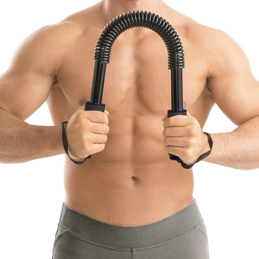 Hippodoctor 20 KG Practical Power Twister Flexible Strength Chest Shoulder Arm Rod Spring Exerciser Power Wrist Hand Gripper, Curl Spring Bar Power Twister : Sports & Outdoors