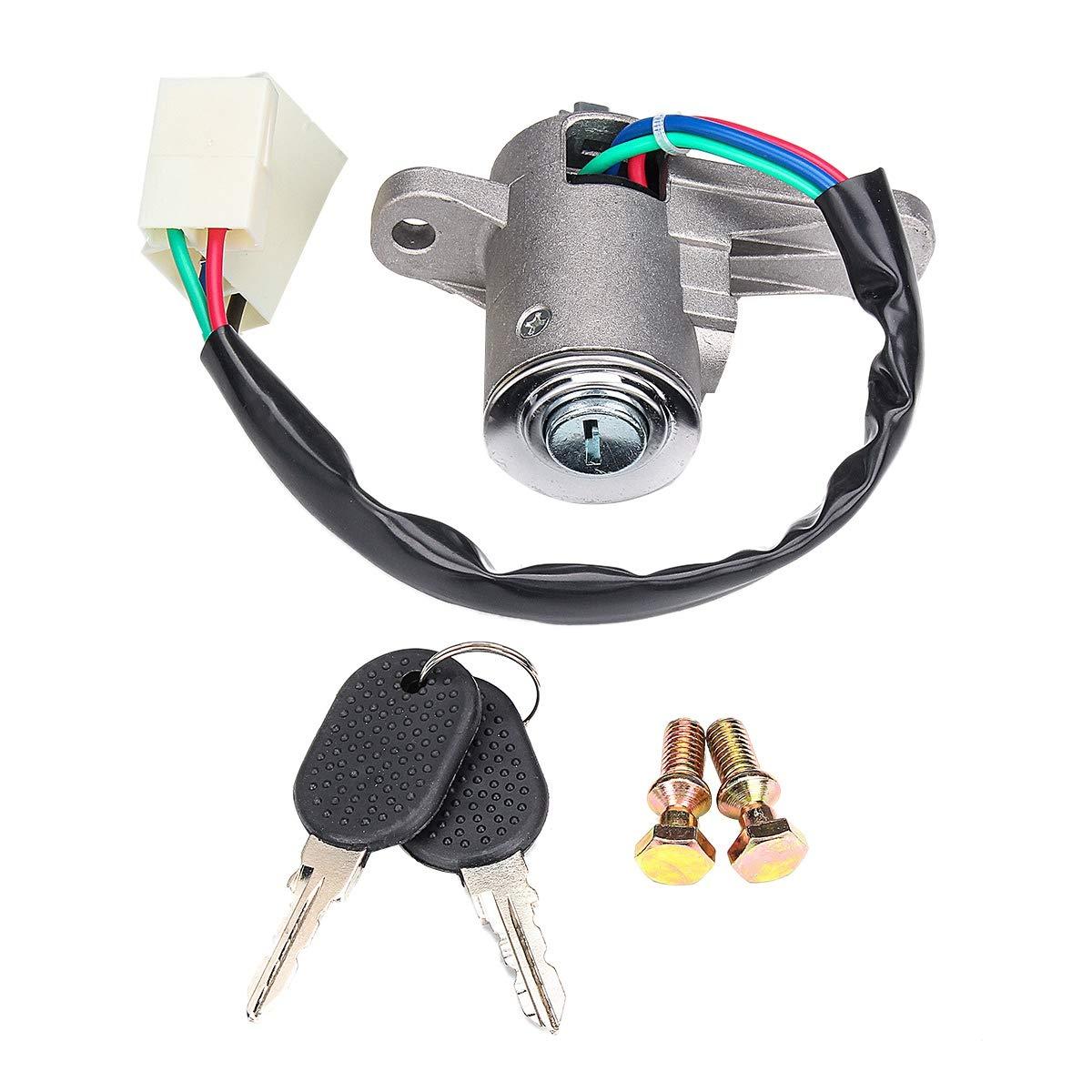 Etase Cerradura del Cilindro del Interruptor de Barril de Encendido con 2 Llaves para Iveco Eurocargo Eurotech Eurotrakker 4837683 41040470 504026642