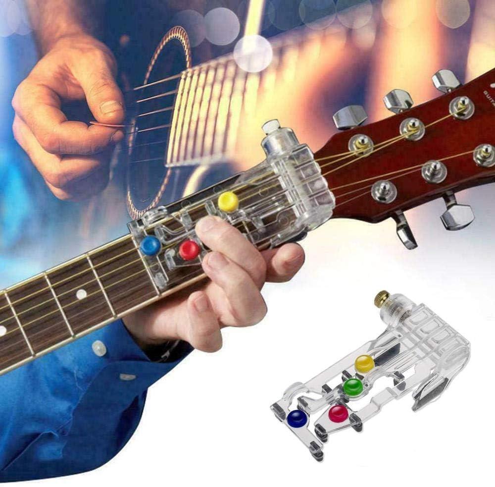 Generir Guitar Chord Trainer Folk Guitar Learning Helper Guitar Chord Practice Outil Assist/é pour Les D/ébutants en Guitare Accessoires De Guitare-Blanc