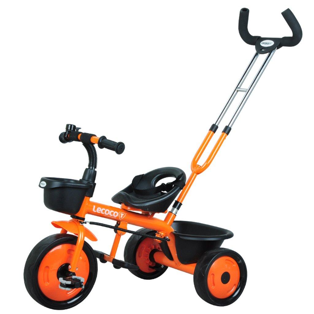 XQ 子供の三輪車の自転車キッズバイク3-6歳のパターのシートベルト 子ども用自転車 ( 色 : オレンジ ) B07C87YC8V オレンジ オレンジ