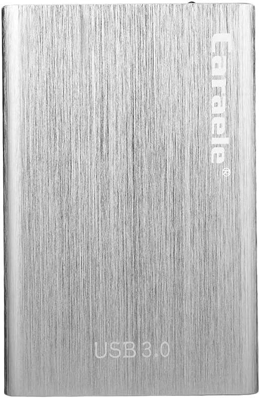 外付ハードディスクドライブ 2.5インチ USB3.0 SATA HDDエンクロージャー 銀色 - 500GB