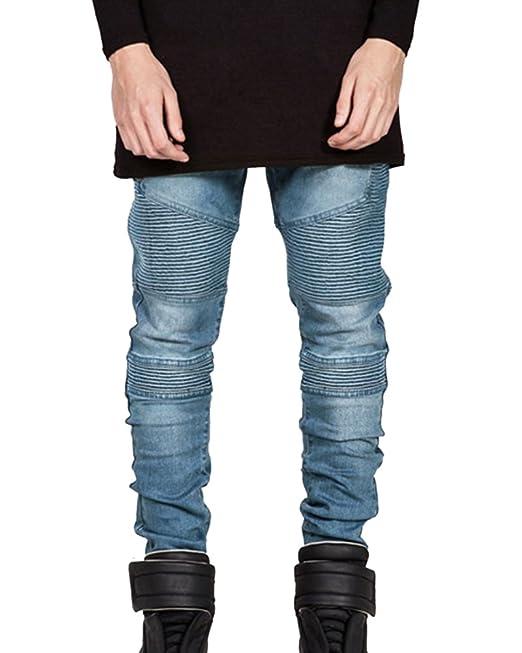 Fit Slim Biker es Vaqueros Jeans Pantalones Vaqueros Hombre Amazon qzxnSF7
