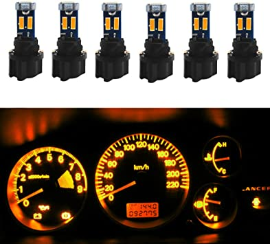 10x T5 37 Pink Dashboard Instrument Panel Gauge Light LED Bulbs PC74 Sockets