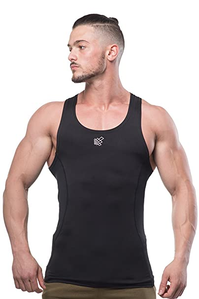 4f8f4f36c7bea Jed North Men s Bodybuilding Compression Tank Top Slim Fitted Workout Base  Layer Shirt