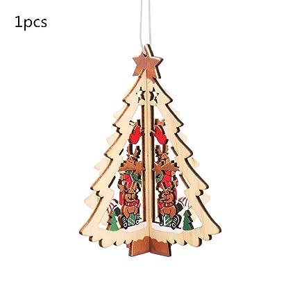 Amazon com: JEWH Christmas Wooden Pendants - DIY Wood Crafts