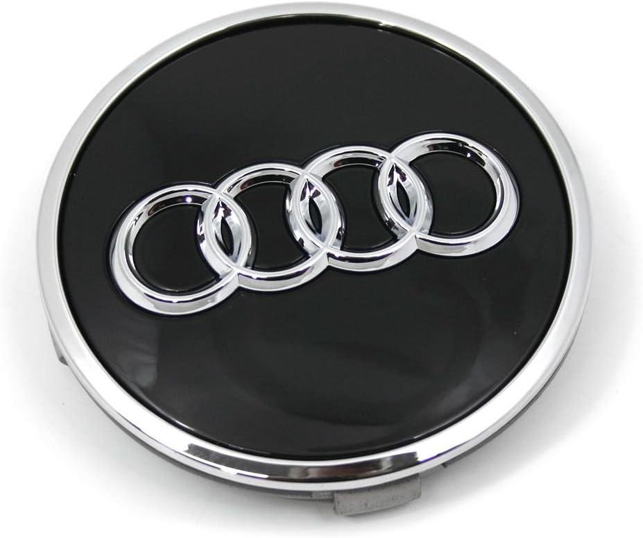 Audi 8w0601170a Radzierkappe 1 Stück Nabenkappe Nabendeckel Felgendeckel Alufelgen Schwarz Glänzend Auto