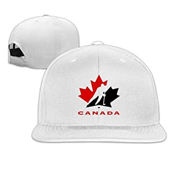740b41af02a Facsea Runy Custom Hockey Player Adjustable Baseball Hat   Cap White   Amazon.co.uk  Sports   Outdoors