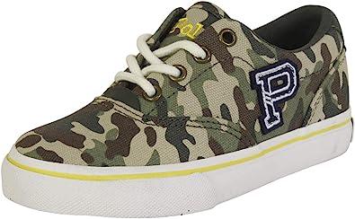 aggrapparsi bordeggiare Pensa al futuro  Amazon.com | Polo Ralph Lauren Little Boy's Thornton Green Camo Sneakers  Shoes | Shoes