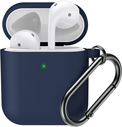 for Airpod Case Front LED Visible MARGE PLUS Silicone Airpods Case Cover Compatible for Apple Airpods 2/&1 Charging Case
