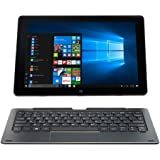 """NUVISION TM101W638L Duo 10 Draw 2-in-1 Hybrid PC with 10.1"""" HD Touchscreen, Intel Atom X5-Z8300 Processor and 64GB SSD Memory, Digital Pen Included, Blue"""