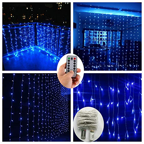 300 Blue Led Icicle Lights in US - 7