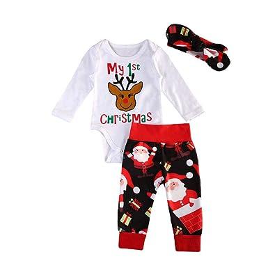 Amazon.com: Traje de Navidad para bebé recién nacido, para ...