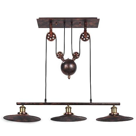 Cueffer Luz Colgante de Polea Lámpara de Techo Vintage 39