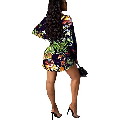 Women S//M Fit Multicoloured All Over Floral Print Bow Belt High Neck Dress